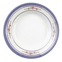 Rose 7 oz. Round Melamine Soup Plate - 12/Pack