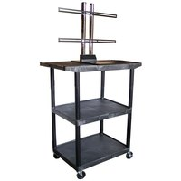 Luxor / H. Wilson LE48WTUD Flat Panel TV Cart with 3 Shelves for Up to 50 inch Screens
