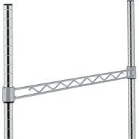 Metro H148-DSH Silver Hammertone Hanger Rail 48 inch