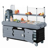 Cambro KVC854426 CamKiosk Black / Granite Gray Vending Cart with 4 Pan Wells