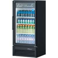 Turbo Air TGM-10SD Black 26 inch Super Deluxe Single Door Refrigerated Merchandiser - 9.3 Cu. Ft.