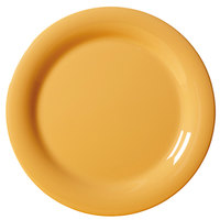 GET NP-9-TY Diamond Mardi Gras 9 inch Tropical Yellow Narrow Rim Round Melamine Plate - 24 / Case