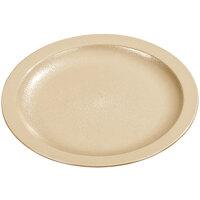Carlisle PCD21025 Tan 10 inch Polycarbonate Narrow Rim Plate - 48/Case