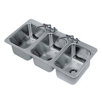 Advance Tabco DI-3-10 3 Compartment Drop In Sink 10 inch x 14 inch x 10 inch Compartments