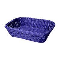GET WB-1508-BL 11 1/2 inch x 8 1/2 inch x 2 3/4 inch Designer Polyweave Blue Rectangular Basket - 12 / Case