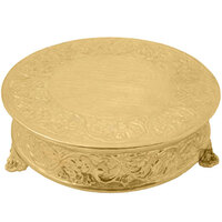 Tabletop Classics ACG-88522 22 inch Ornate Gold Plated Round Cake Stand