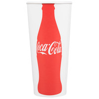 Dart Solo RP4TCB-44047 Coke® 24-26 oz. Poly Paper Cold Cup - 1000/Case