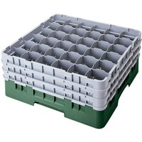 Cambro 36S638119 Sherwood Green Camrack 36 Compartment 6 7/8 inch Glass Rack
