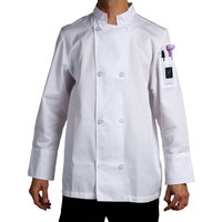 Chef Revival J049-XS Cool Crew Size 32 (XS) White Customizable Poly-Cotton Long Sleeve Chef Jacket