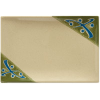 GET 138-TD Japanese Traditional 8 inch x 5 1/2 inch Rectangular Plate - 12/Case