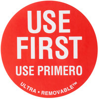 National Checking Company UF4911 3 inch Use First Ultra Removable Dot Label - 500/Roll
