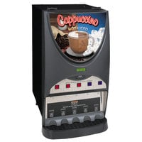 Bunn iMIX-5S+ Silver Series Plus Hot and Iced Beverage Dispenser with Top Hinge Door - Black (Bunn 40900.0050)
