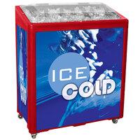Red SS Freeze Jr. 2080 Mobile 90 qt. Cooler Merchandiser