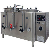 Grindmaster 74410E Twin Midline 10 Gallon Fresh Water Coffee Urn - 120/208V