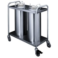 APW Wyott TL2-12 Trendline Mobile Unheated Two Tube Dish Dispenser for 10 1/4 inch to 11 7/8 inch Dishes