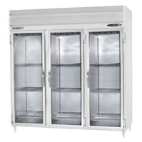 Beverage Air PRD3-1BG-LED 3 Section Glass Door Pass-Through Refrigerator - 79 cu. ft., Stainless Steel