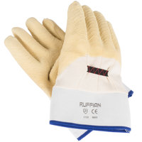 San Jamar 1000 Yellow Rubber Oyster Shucking Gloves   - 2/Pair