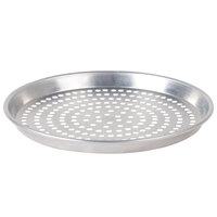 American Metalcraft TDEP12P 12 inch x 1 inch Deep Dish Tapered Perforated Pizza Pan - Tin Plated Steel