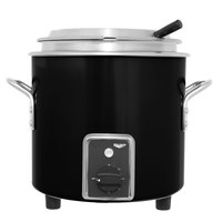 Vollrath 7217760 Black Finish Retro 7 Qt. Stock Pot Kettle Rethermalizer - 120V, 1450W