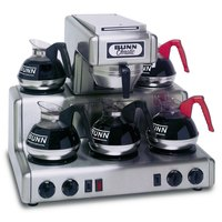 Bunn 20835.0000 RT Automatic Stainless Steel 12 Cup Coffee Brewer with 5 Lower Warmers - 120/240V