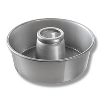 Chicago Metallic 46565 10 inch Glazed Aluminum Angel Food Cake Pan - 3 3/4 inch Deep