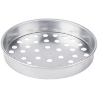 American Metalcraft SPA4008 8 inch x 1 inch Super Perforated Standard Weight Aluminum Straight Sided Pizza Pan