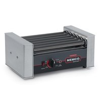 Nemco 8010SX Hot Dog Roller Grill with GripsIt Non-Stick Coating - 10 Hot Dog Capacity (120V)