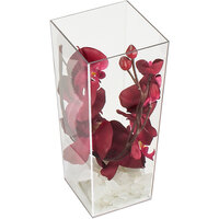 Cal-Mil 879-12 Square Clear Acrylic Accent Display Vase - 5 inch x 5 inch x 12 inch