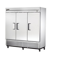 True TS-72 79 inch Stainless Steel Solid Door Reach-In Refrigerator