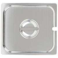 Choice 2/3 Size Stainless Steel Slotted Steam Table / Hotel Pan Cover