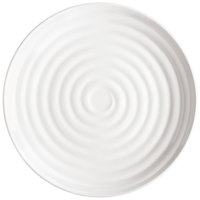 GET ML-84-W Milano 15 inch White Melamine Round Plate - 6/Pack
