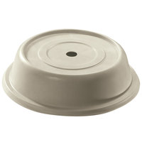 Cambro 1014VS101 Versa Antique Parchment Camcover 10 7/8 inch Round Plate Cover - 12/Case