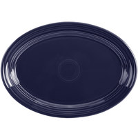 Homer Laughlin 456105 Fiesta Cobalt Blue 9 5/8 inch Small Oval Platter   - 12/Case