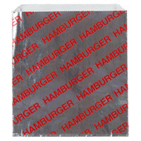 Carnival King 6 inch x 1 inch x 6 1/2 inch Large Hamburger Bag - 1000 / Case