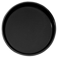 Cambro PT1600110 Black 16 inch Round Polytread Serving Tray