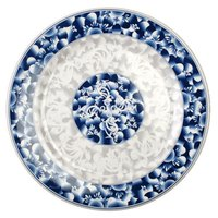 Blue Dragon 9 1/8 inch Round Melamine Plate - 12/Pack
