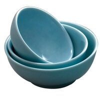 Blue Jade 74 oz. Round Melamine Soup Bowl - 12 / Pack