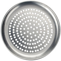 American Metalcraft SPCTP7 7 inch Super Perforated Standard Weight Aluminum Coupe Pizza Pan