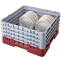 Cambro CRP2878416 Cranberry Full Size PlateSafe Camrack 7-8 5/8 inch