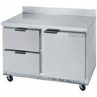 Beverage Air WTRD48A-2 48 inch Compact Worktop Refrigerator - 1 Door / 2 Drawer