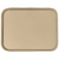Cambro 1216FF104 12 inch x 16 inch Desert Tan Customizable Fast Food Tray - 24/Case