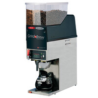 Grindmaster GNB21H 6.5 lb. Dual Hopper 64 oz. Decanter Grind'n Brew Coffee Grinder and Automatic Brewer - 120V