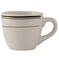 Tuxton TGB-035 Green Bay 3.5 oz. China Demitasse / Tall Cup - 36/Case