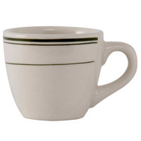 Tuxton TGB-035 3.5 oz. Green Bay China Demitasse / Tall Cup 36 / Case