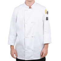 Chef Revival J050-2X Size 52 (2X) Customizable Double Breasted Chef Coat with Knot Cloth Buttons - Poly-Cotton Blend