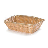 Tablecraft 1172W 9 inch Rectangular Woven Basket - 3/Pack