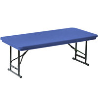 Correll Adjustable Height Folding Table, 30 inch x 72 inch Plastic, Blue - Short Legs - R-Series RA3072S