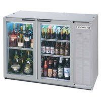 Beverage Air BB48GY-1-S 48 inch Stainless Steel Back Bar Refrigerator with 2 Glass Doors - 115V