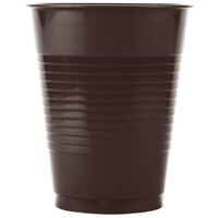 Creative Converting 28303881 16 oz. Chocolate Brown Plastic Cup - 20 / Pack
