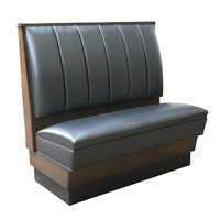 American Tables & Seating AS-366 Single 6 Channel Back Upholstered Booth - 36 inch High